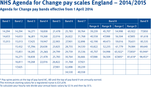 Nhs Agenda For Change Pay Scales